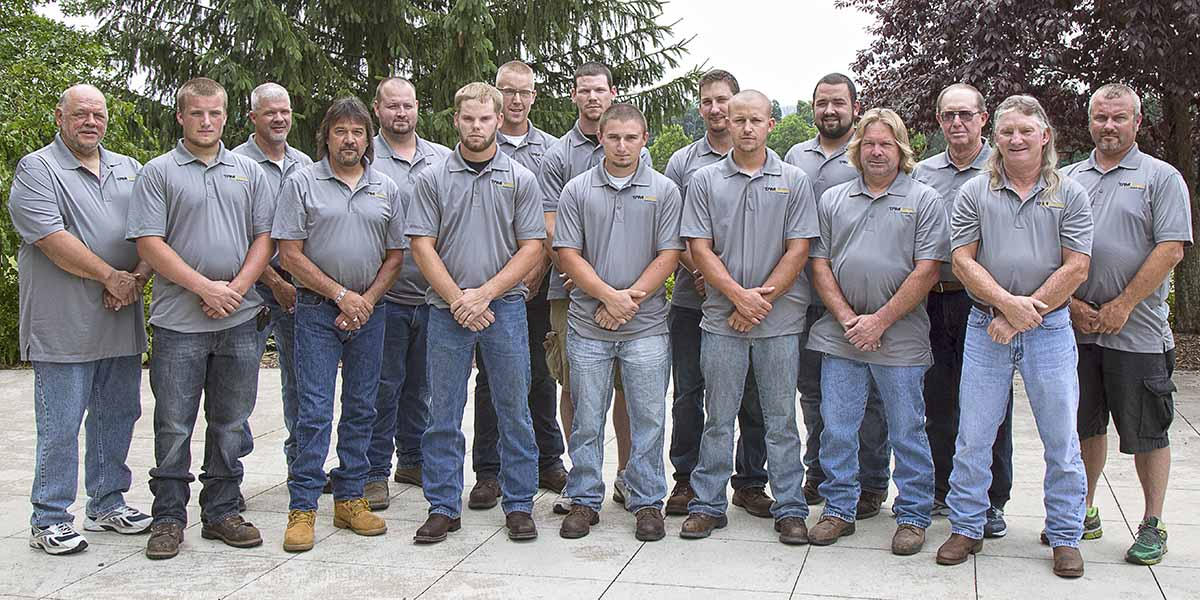 TAM Systems Field Team Photo: Front Row: (left to right)Dakota Willman, Craig Shearer, Joey Smith, Tony Paluscio, Chase Rhodes, Donnie Rhodes, Mickey Hostetter Second Row: Ray Miller, Floyd McClintock, Justin Sheridan, Ean Julius, Joe Smith, Nathan Brouse, Corey Clouser, Gary Cook, Jesse Hauger